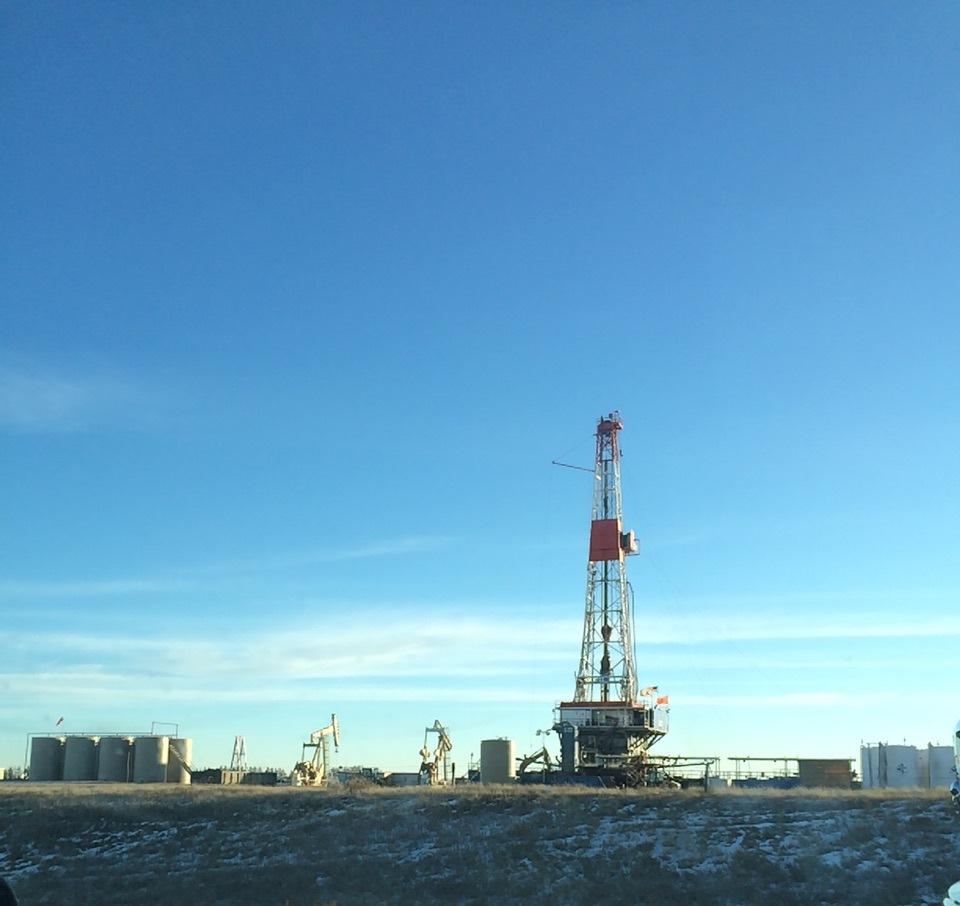 Drilling rig in North Dakota. Photo by Melisa Ulvog.