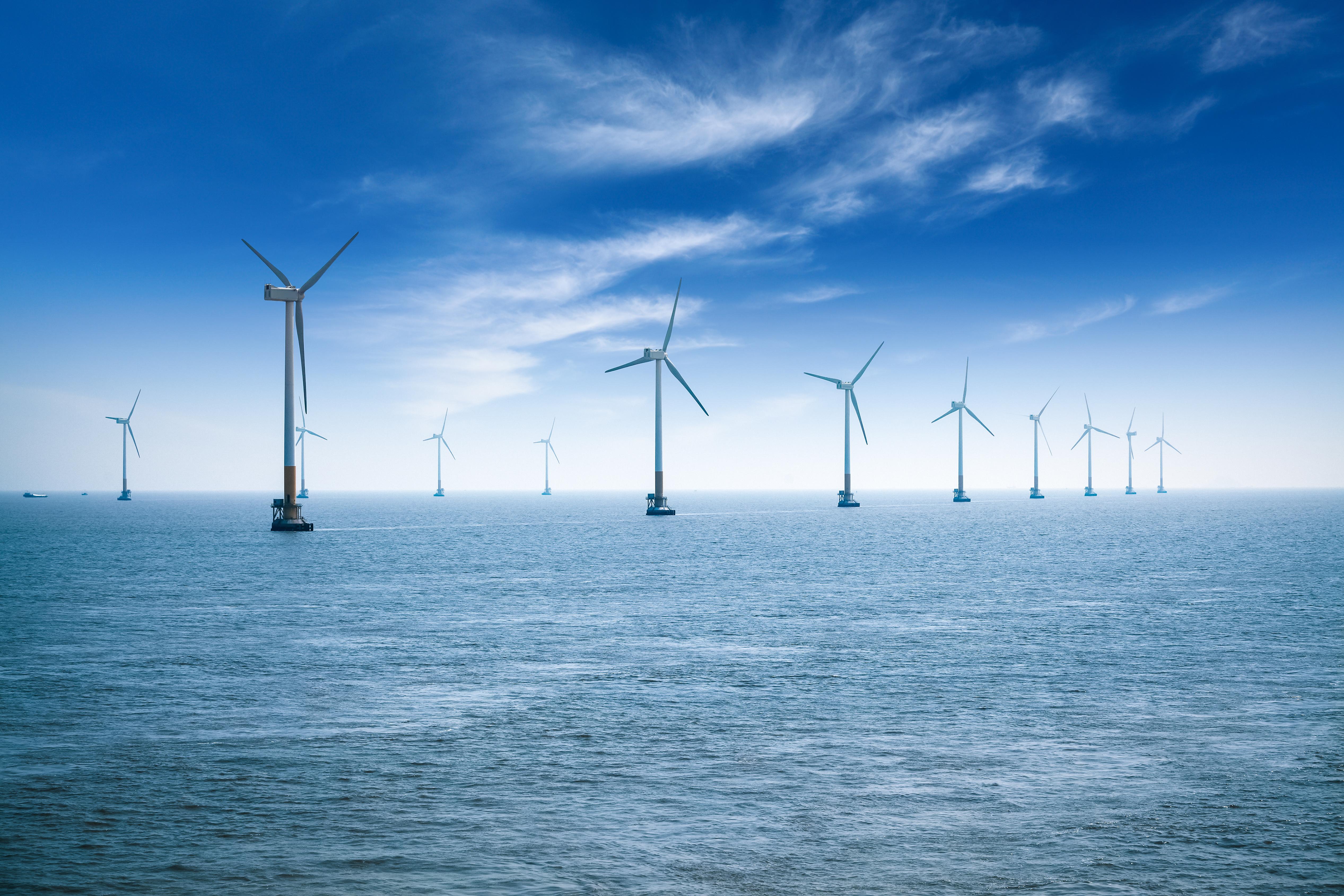 offshore wind farm the east China sea. Image courtesy of DollarPhotoClub.com