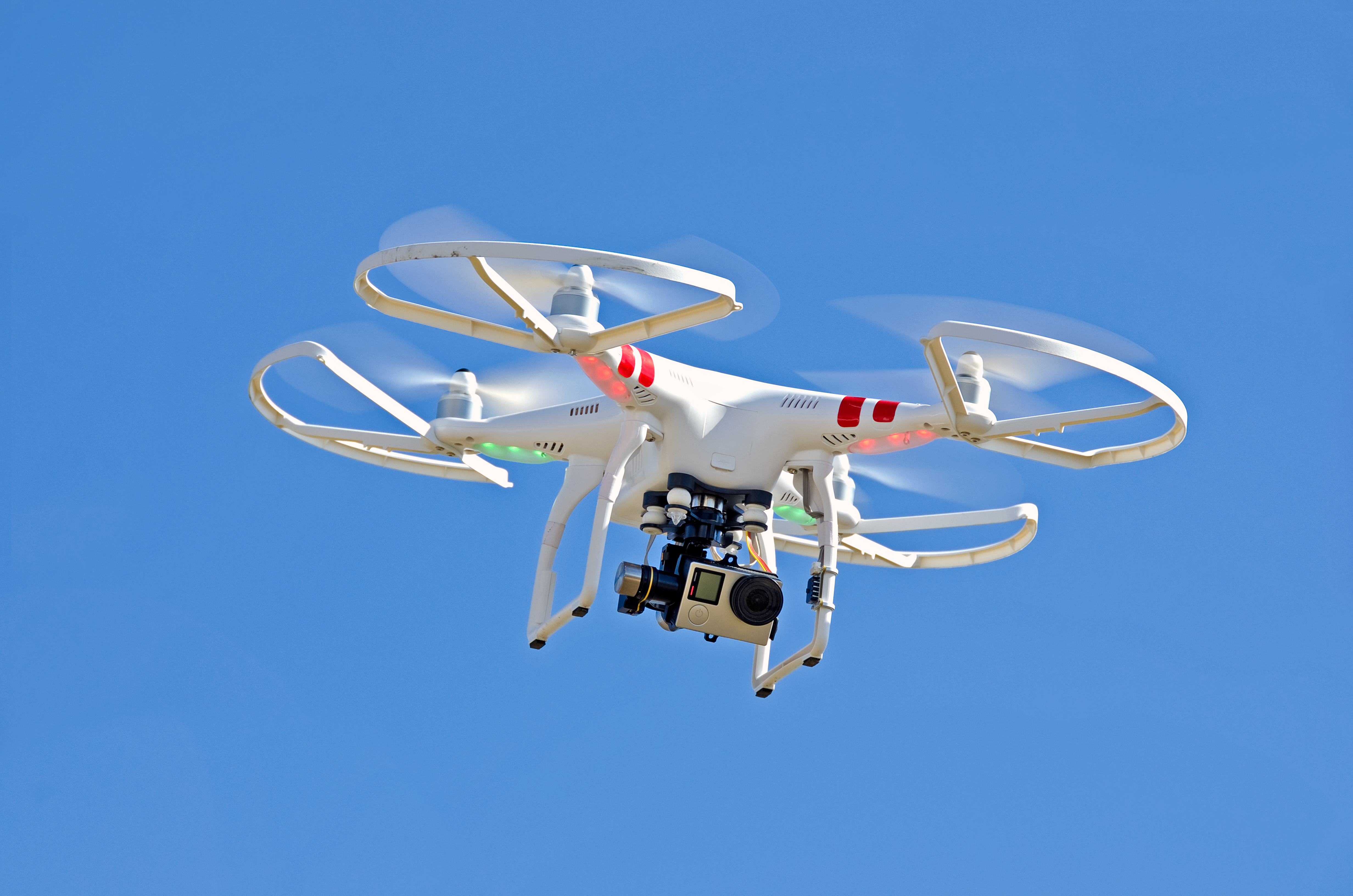 Check out the camera on the bottom of that quadcopter. Photo courtesy of DollarPhotoClub.com