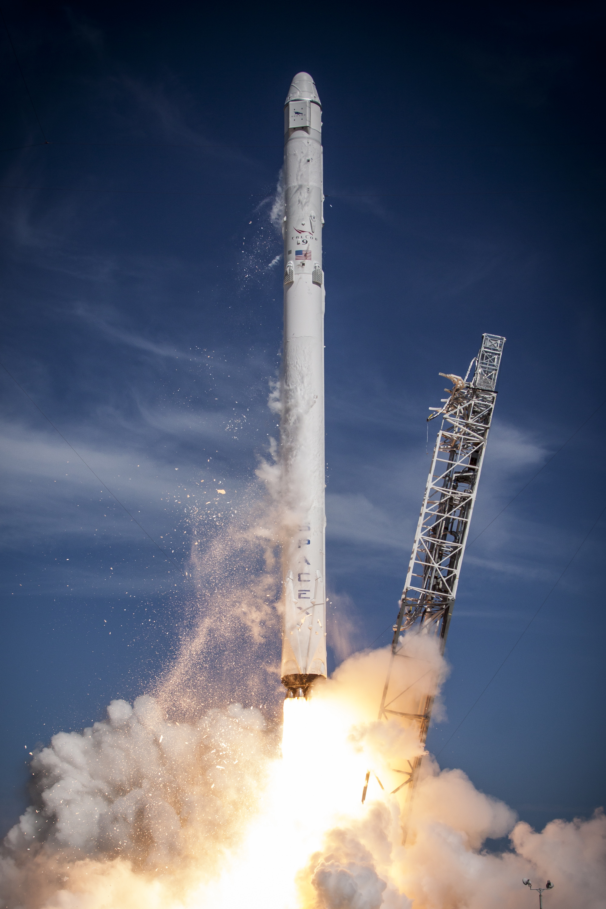 Falcon 9 launch. Photo,  in public domain, courtesy of SpaceX