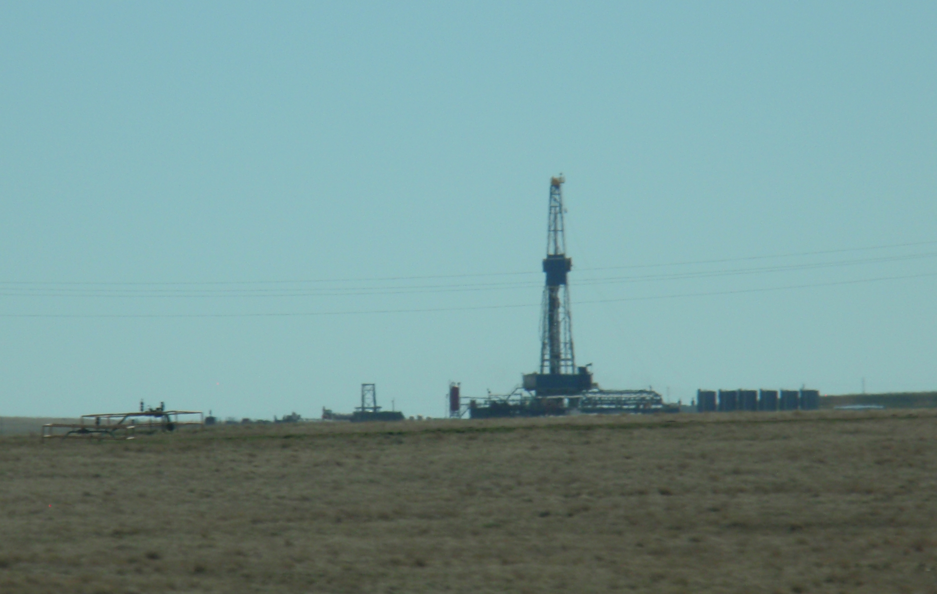 There are still a lot of rigs visible on the drive from Minot to Williston. Keep in mind that is one of the most productive areas. Photo by James Ulvog.
