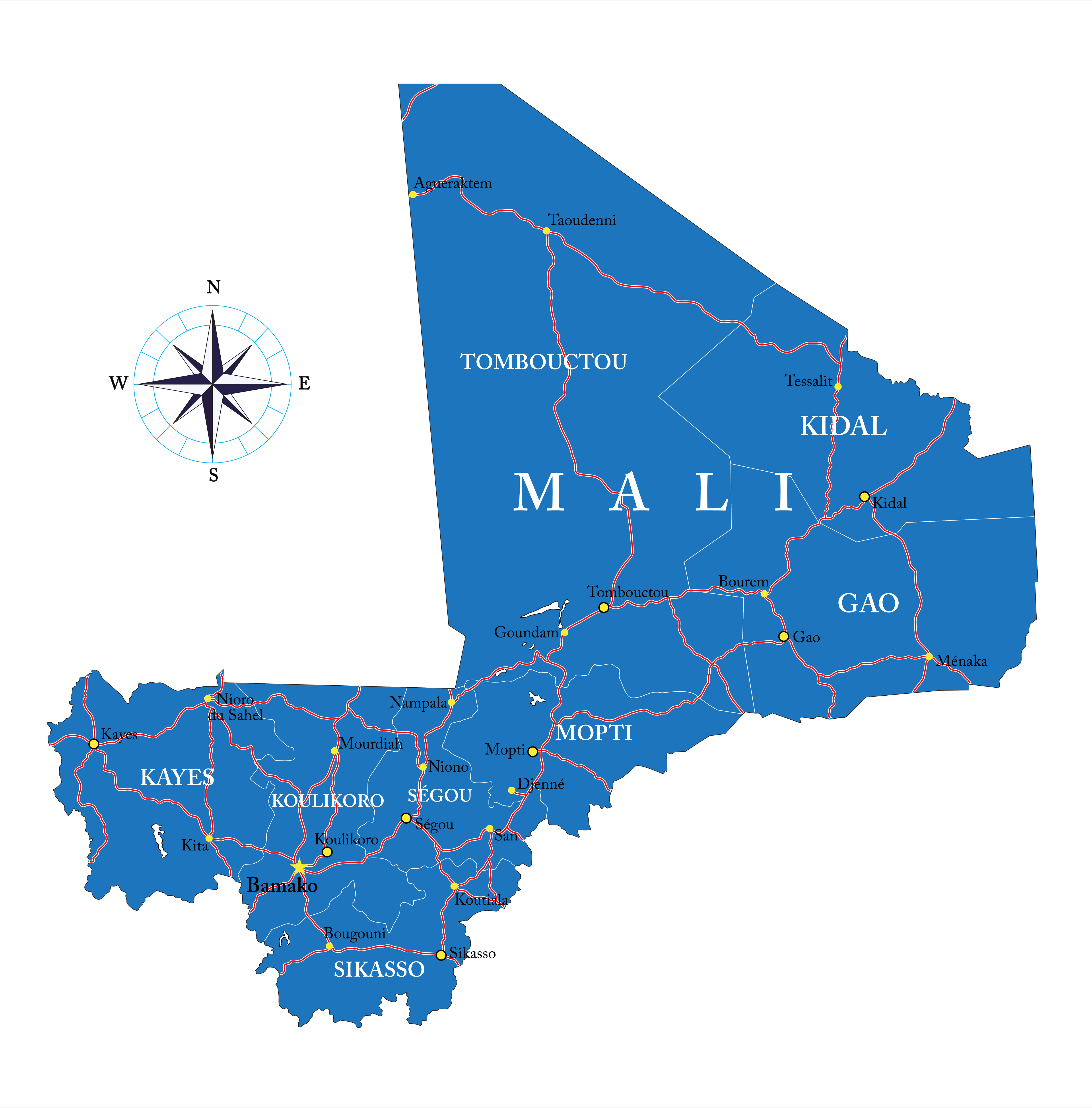 Map of Mali. Image courtesy of DollarPhotoClub.com