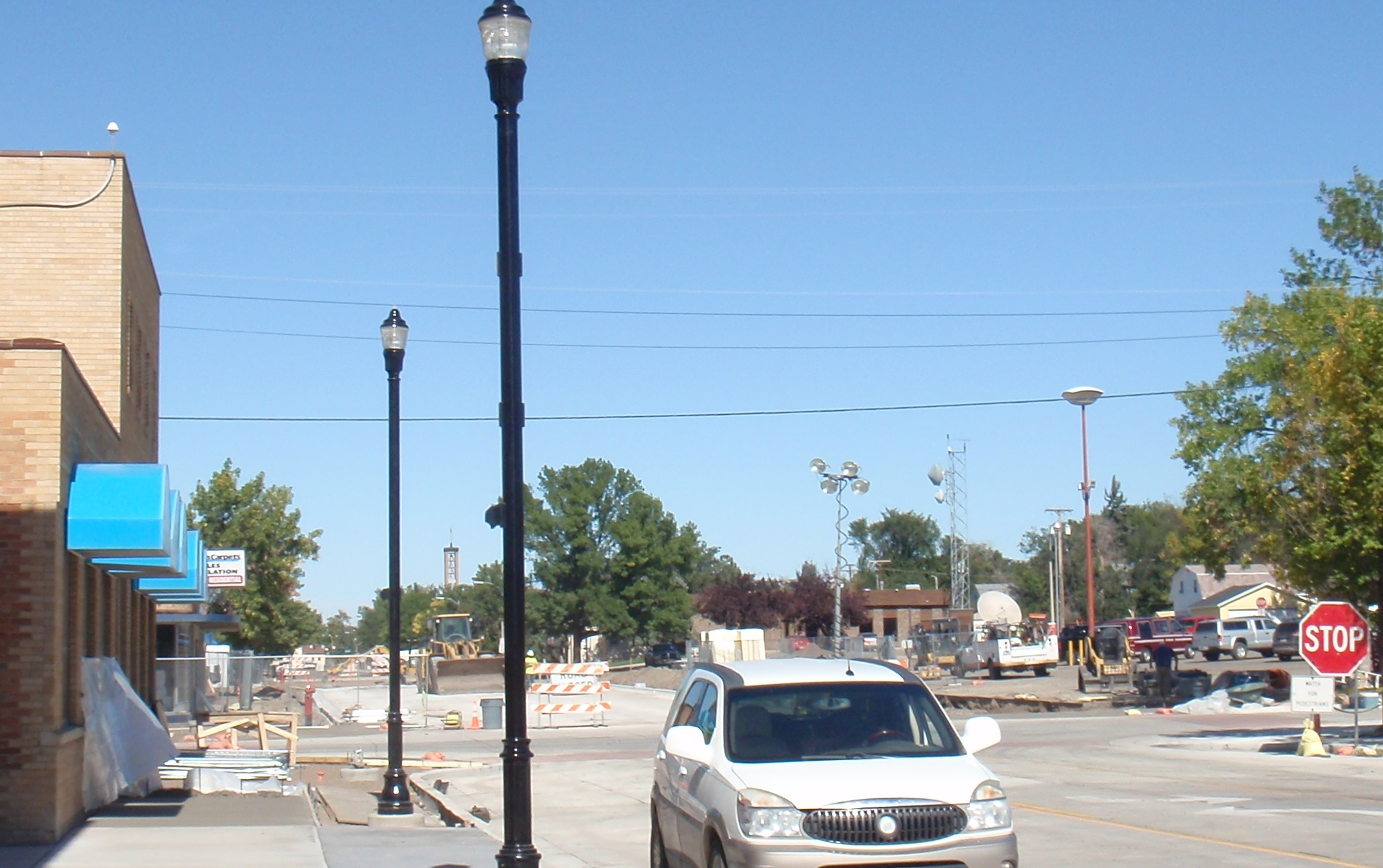 Construction on Main Street. looking north from Penney store. Photo by James Ulvog.