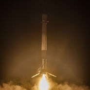 Sucessful recovery of Falcon 9 booster. Photo courtesy of SpaceX released to pubic domain.