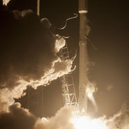 Launch of Orbcomm mission on top of Falcon 9 booster. Photo courtesy of SpaceX released to pubic domain.