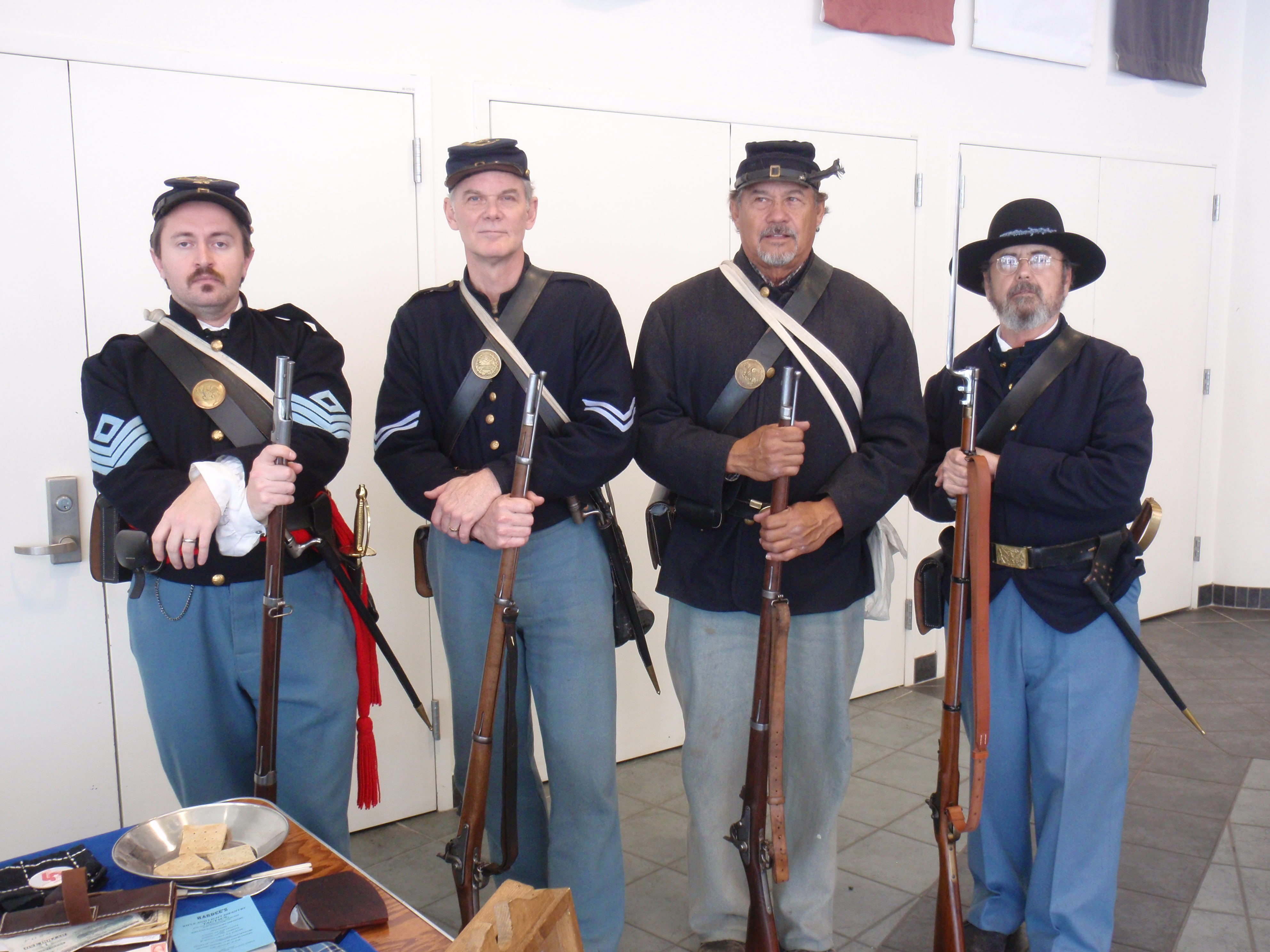 Union soldier reenactors at Azusa Pacific University on 3/1/14. I do not recall what unit they are with. Photo by James Ulvog.