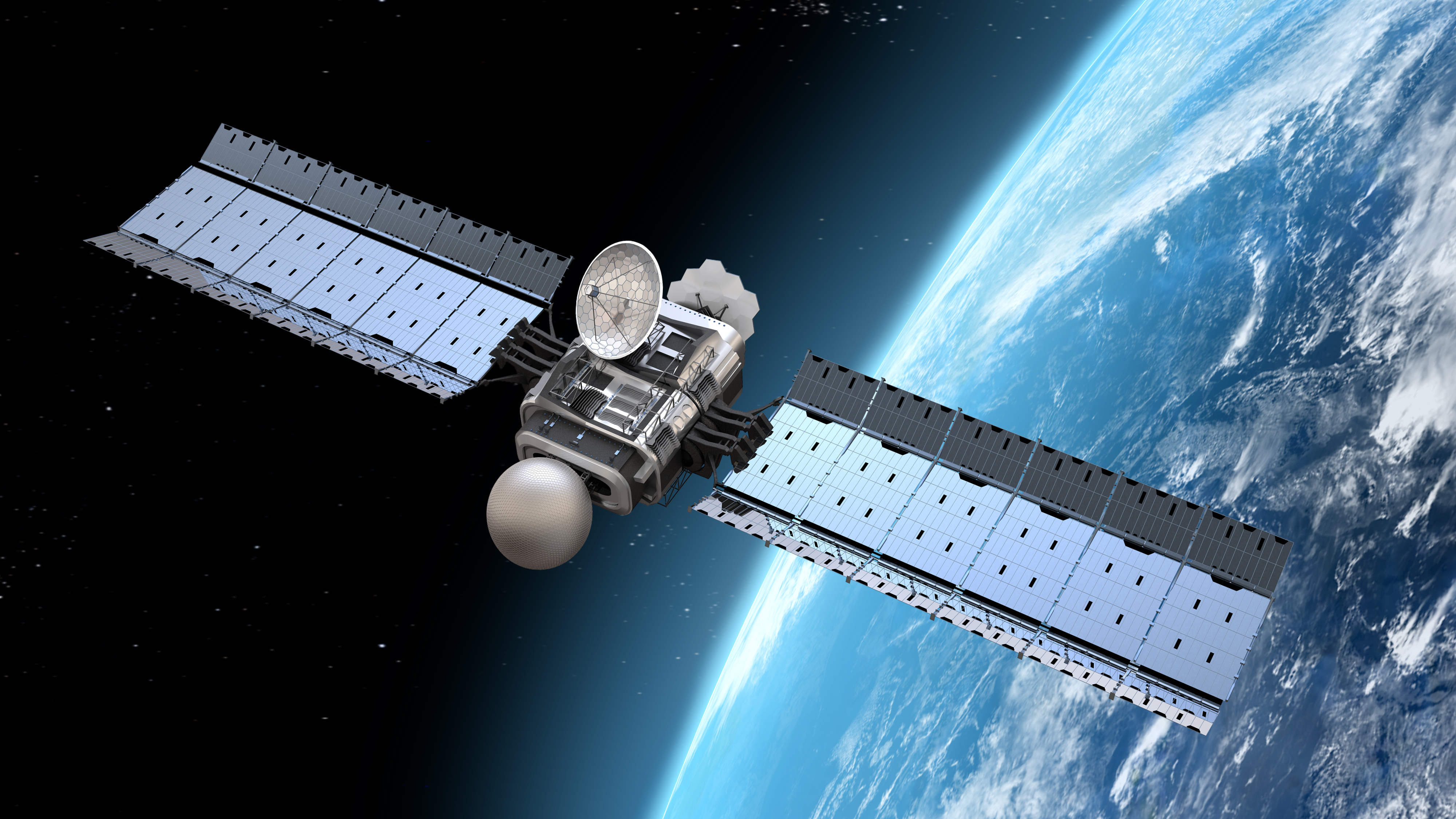 Imagine one of those providing enough bandwidth to allow merchant ships to operate without a crew. Imagine scaling that down to show-box size to allow a company to sell daily images of every spot on the earth. Image courtesy of Adobe Stock.