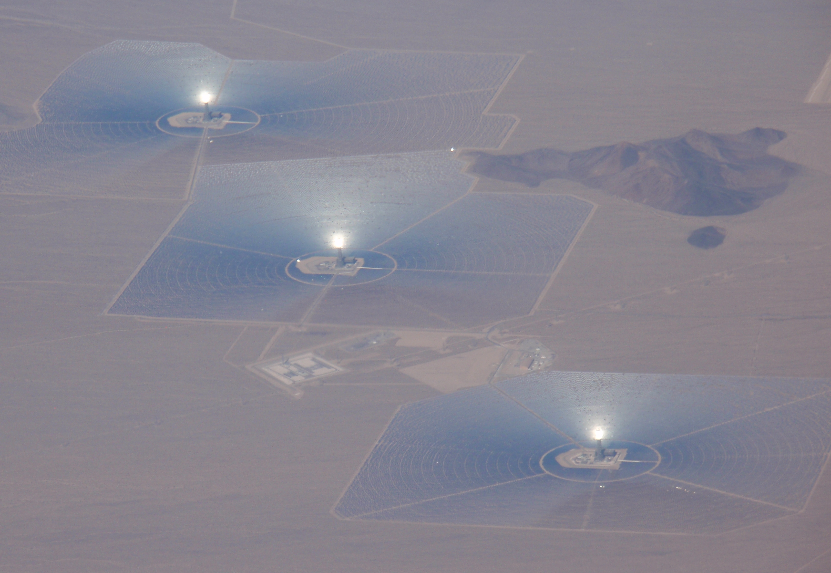 Ivanpah Solar Electric Generating System. November 2016 photo by James Ulvog.