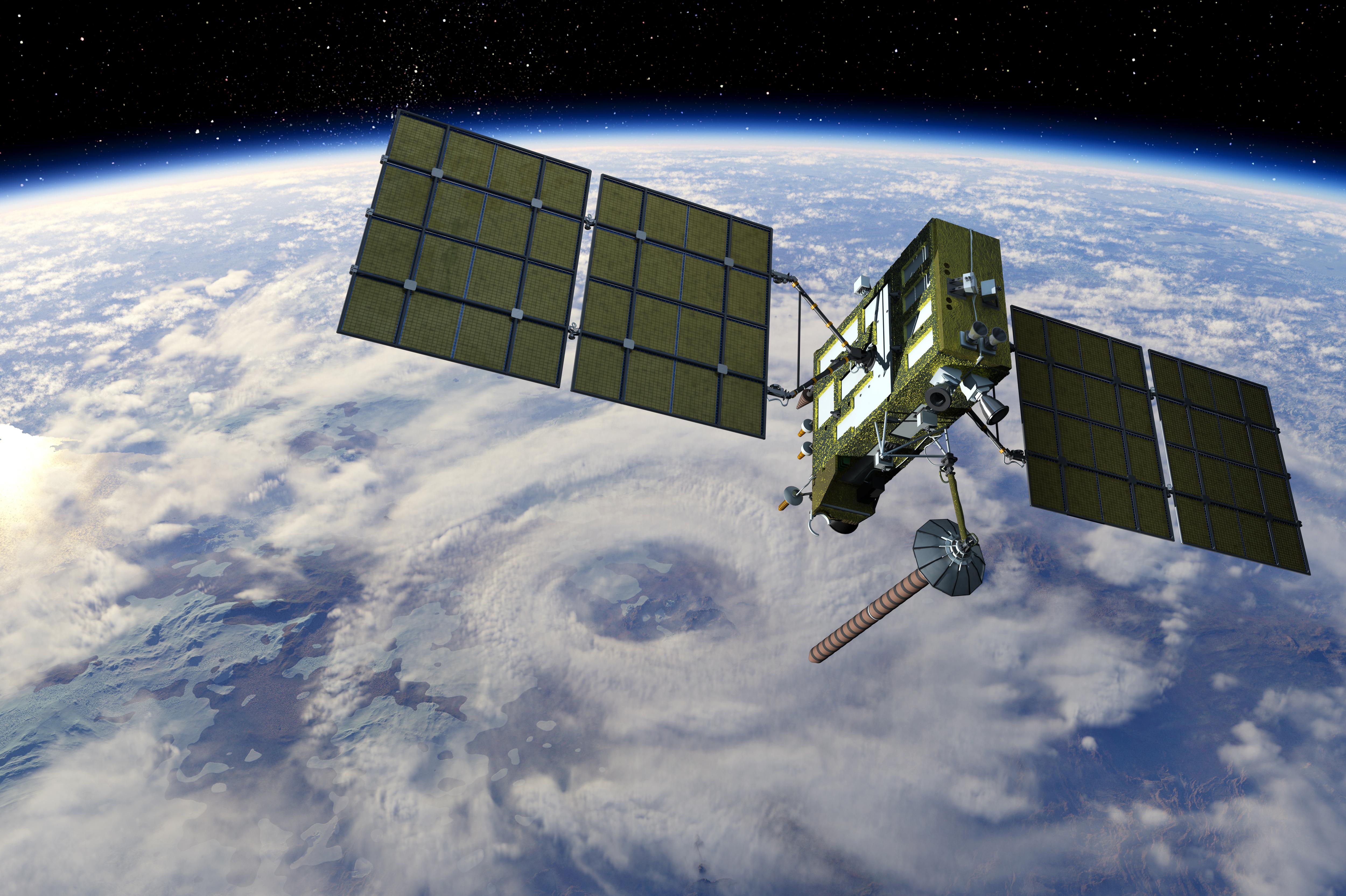 Modern GPS satellite. Image courtesy of Adobe Stock.